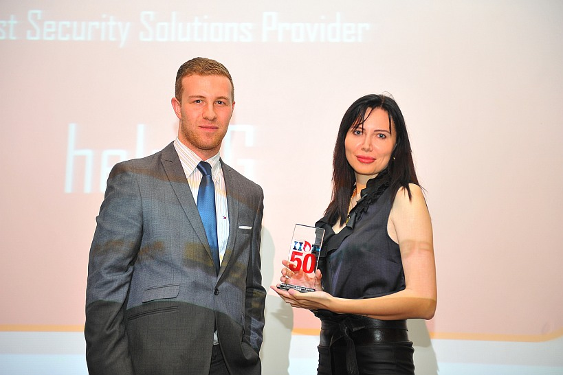 Alexandra with Reseller Hot 50 award