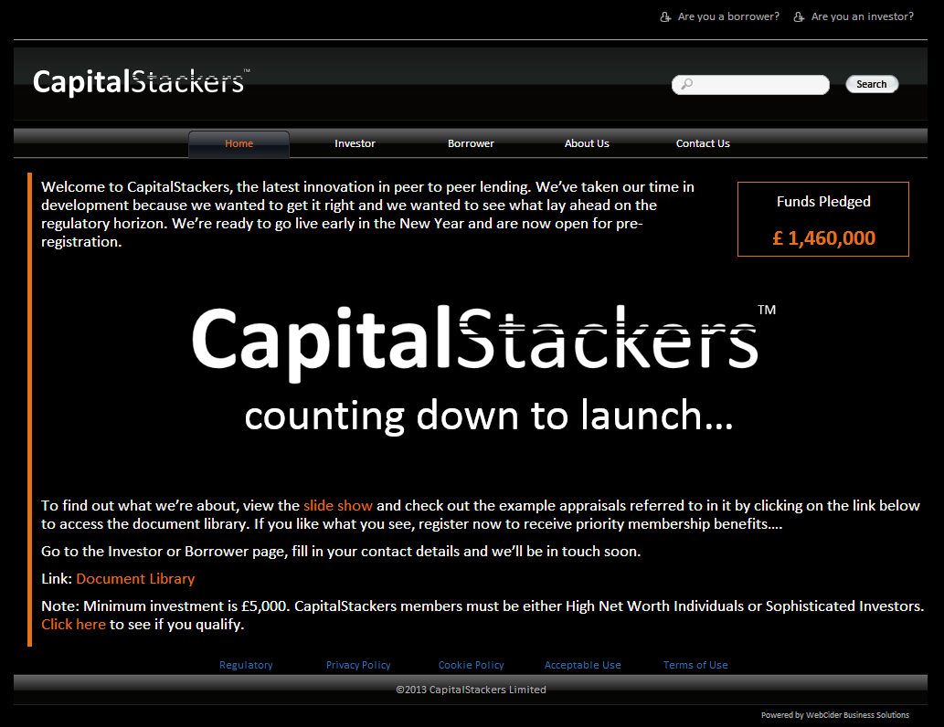 CapitalStackers Pre-launch Website