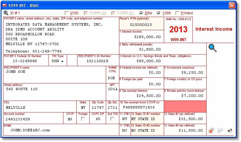 New Tax Form For 1099 G