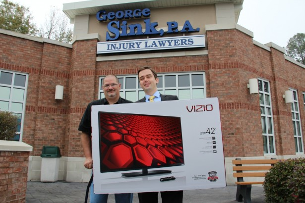 George Sink P A Injury Lawyers Announces Winner Of Tv