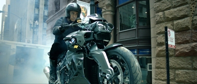 Aamir Khan on the BMW K 1300 R
