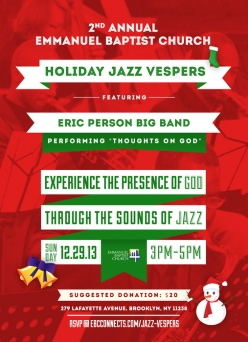 2nd Annual Emmanuel Baptist Church Holiday Jazz Vespers