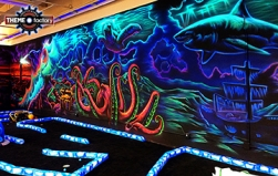 Creative Works' Cosmic Mini Golf Underwater Mural