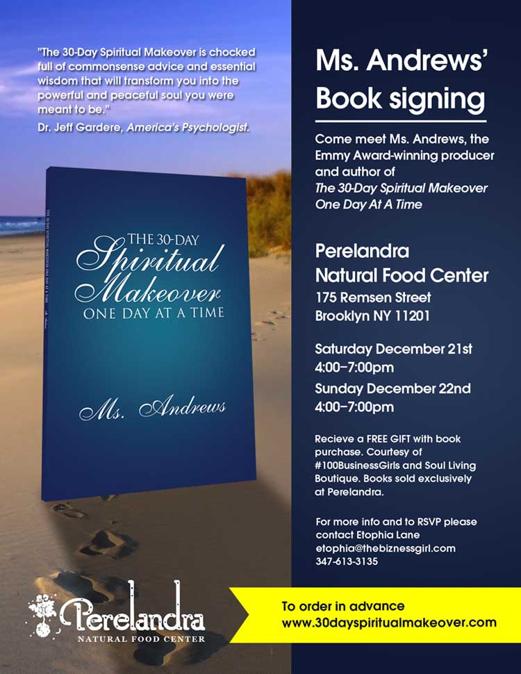 30-Day Spiritual Makeover Book Signing (Bklyn, NY)