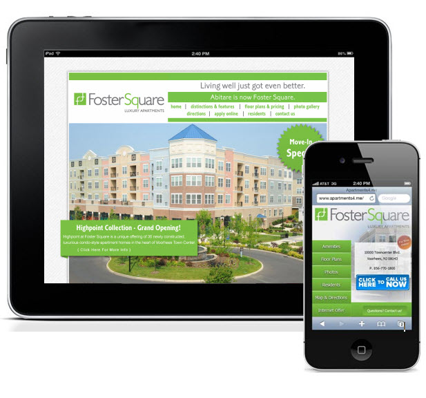 www.FosterSquareApartments.com Homepage