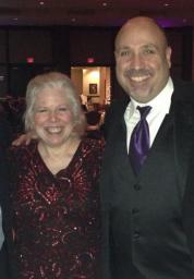 Sharon Favreau and Tutor Doctor President Frank Milner at Annual Award Gala