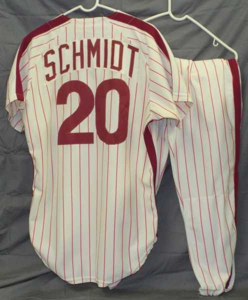 This Mike Schmidt Philadelphia Phillies game-worn uniform will be sold Jan. 18.