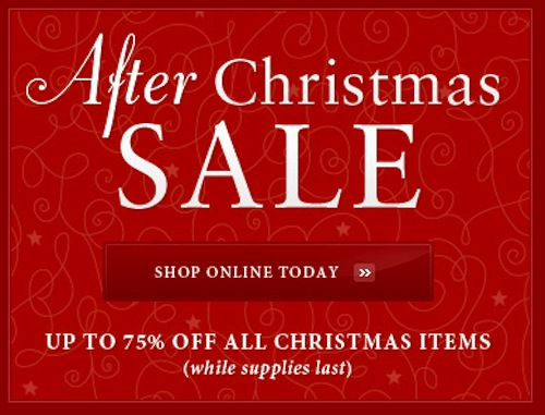 day after christmas sale 2013 - Best After Christmas Sales