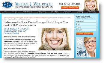 Porcelain Tooth Veneers - Manhattan NYC