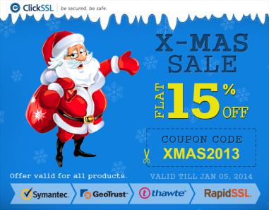 Christmas Offer 2013 - ClickSSL