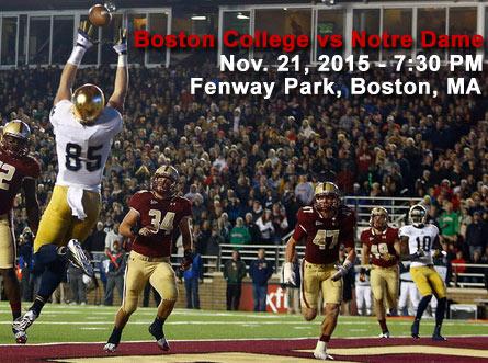 Boston College vs Notre Dame Fenway Park