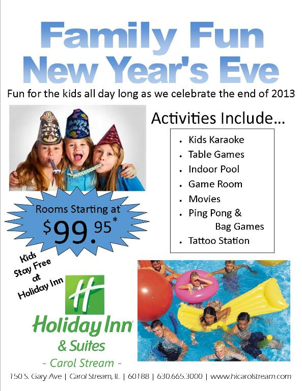 New Year's Eve for the Whole Family at Holiday Inn & Suites/Alberto's Restaurant