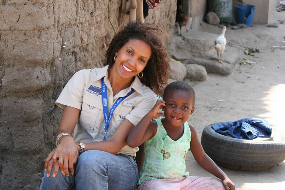 Dr. Nicole Williams during a mission to Ghana, West Africa