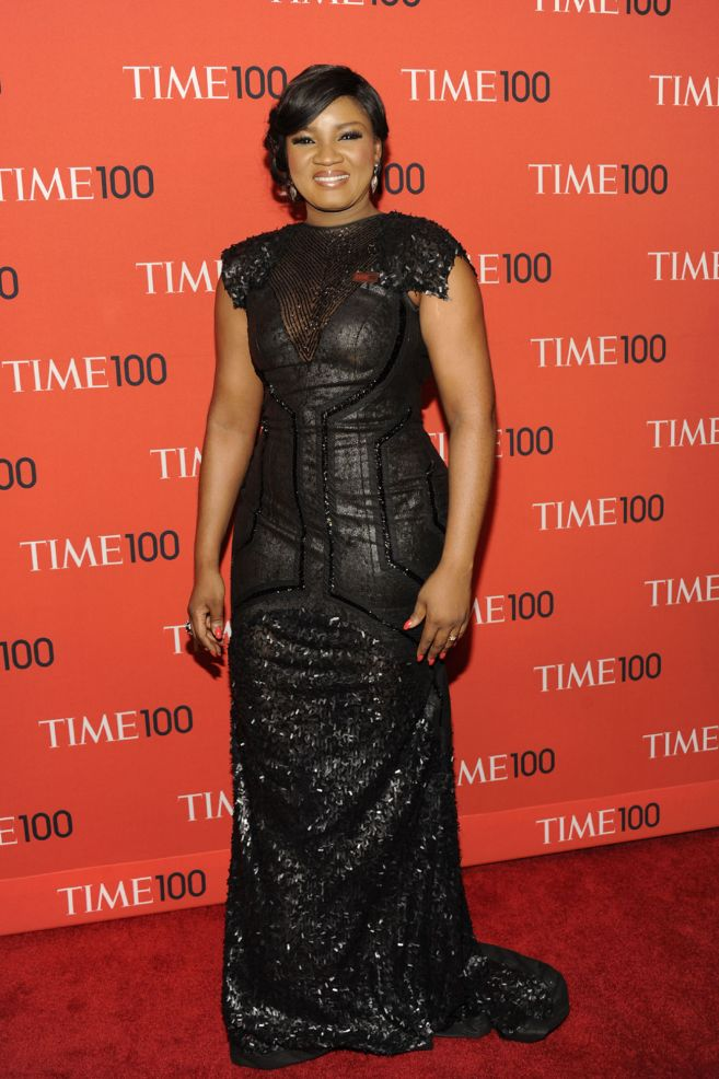 Time 100 Honoree Omotola Jalade Ekeinde Arrives At The Time 100 Gala In NYC