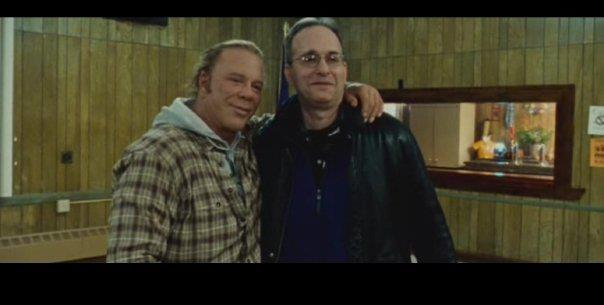 Evan Ginzburg with Mickey Rourke