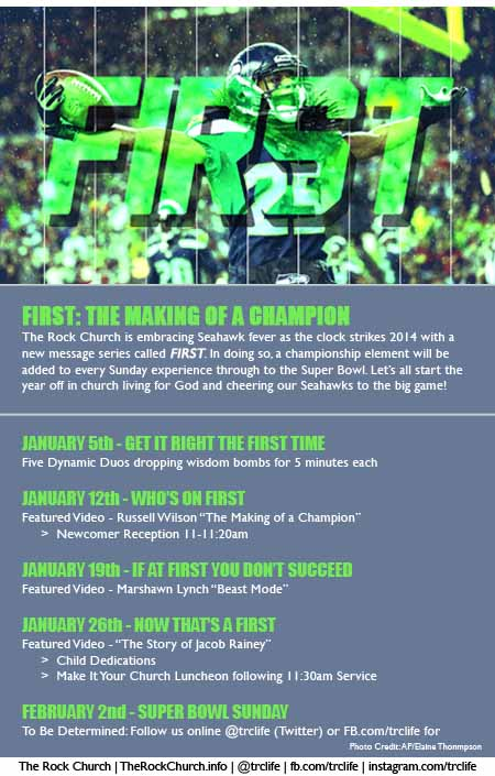 TRC's New Message Series - FIRST: The Making of a Champion