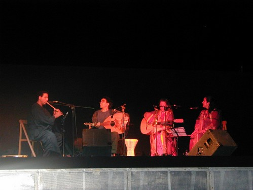 Boujemaa Razgui with the Al Andalus Ensemble performing in Sevilla, Spain