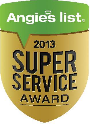 Angies list 2013 award