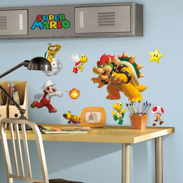 jomoval showcase super mario wall stickers at toy fair