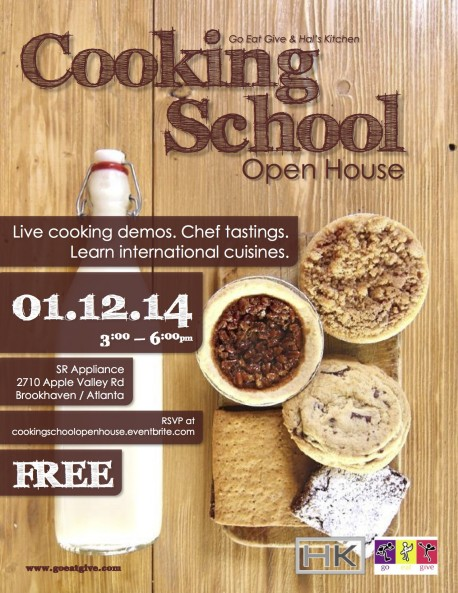 Cooking Class Open House Jan 12