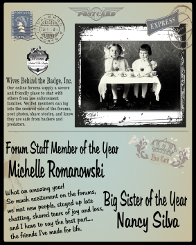 2013 - Forums Staff Member of the Year & Big Sister of the Year