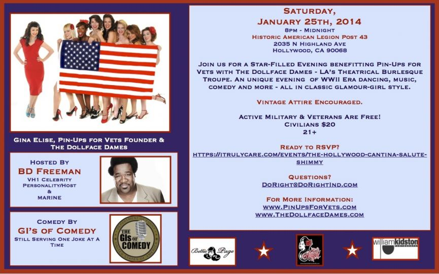 Pin-Ups for Vets - January 25th Event