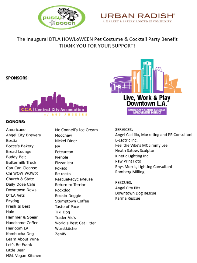 URBAN RADISH DTLA Sponsors & Donors