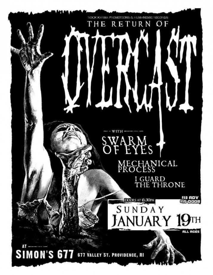 Overcast with Swarm of Eyes - Providence January 1