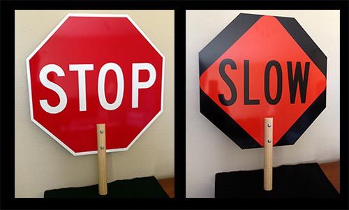 ADA Sign Depot STOP-SLOW Paddle Signs.
