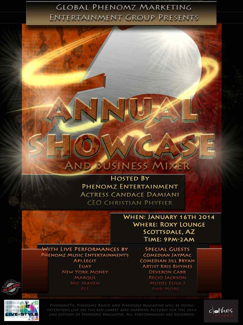 2014 Global Phenomz Annual Entertainment Showcase & Business Mixer