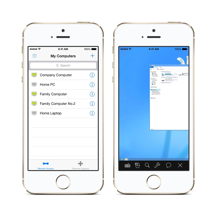 ISL Light Remote Desktop for iOS 7 and iPhone 5s