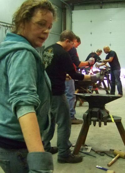 Fire, hot iron, and an anvil for the day at the Center for Metal Arts