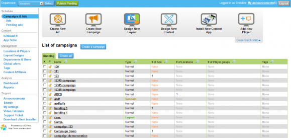 UCView web interface