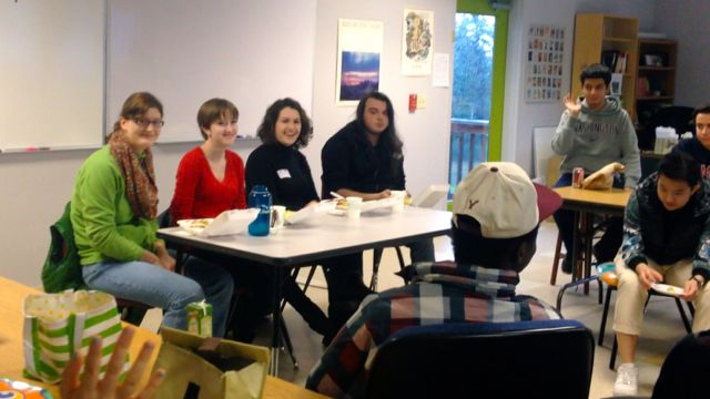 Left to right, Mara Rolsky, Emma Christen, Anne Boucher, and Lucas Verwolf