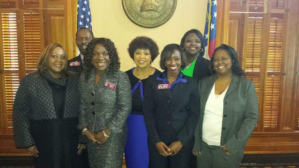 Enchanted Closet board members pictured with Georgia State Representatives