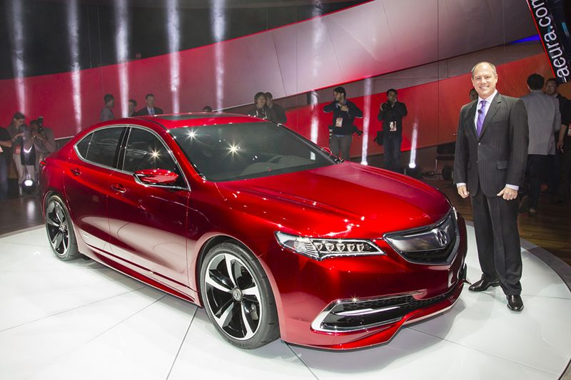 The 2015 Acura TLX at the National Auto Show