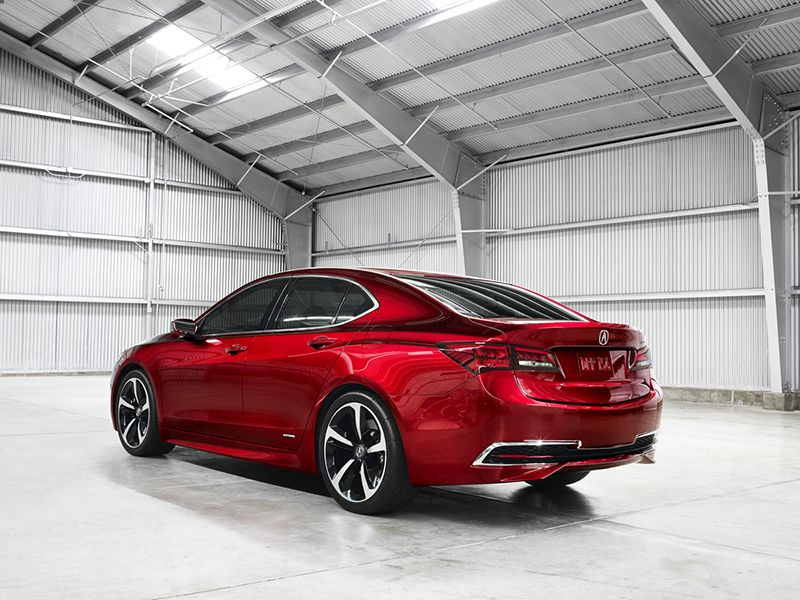 The 2015 Acura TLX Rear Three Quarters View