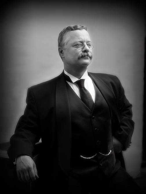 Joe Wiegand as Teddy Roosevelt is scheduled to appear Jan. 30th in Flagler Beach