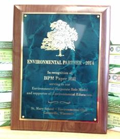 BPM Paper Mill Receives Environmental Partner Award