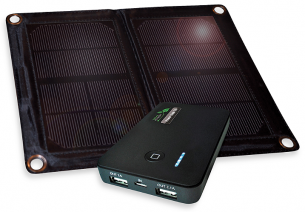 6 Watt Folding Solar Charger with Power Bank 5.0