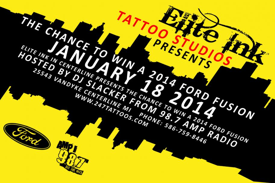 Elite Ink 2014 Ford Fusion Giveaway