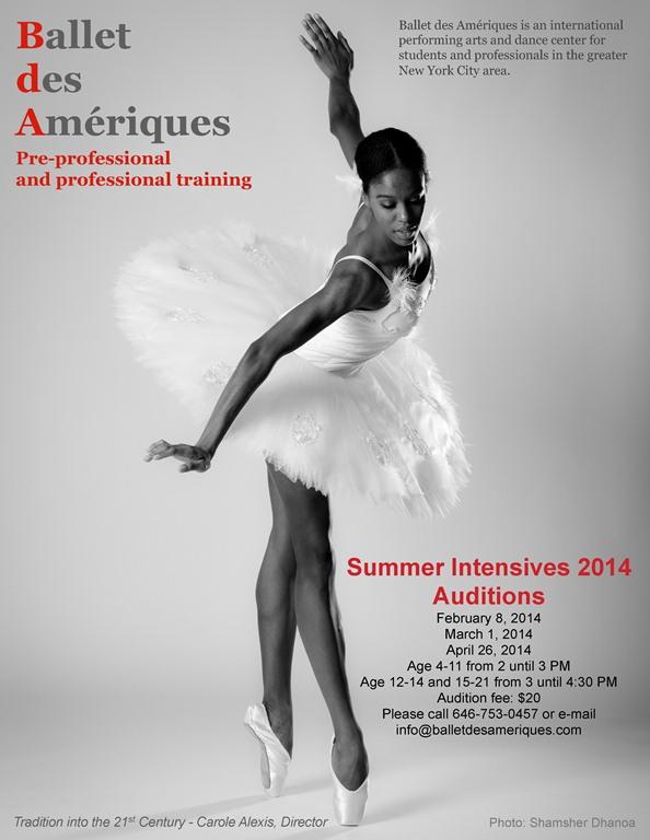 Summer Intensives 2014 Audition