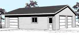 Garage Plan 1200-5 by Behm Design
