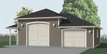 Garage Plan 832-1sp by Behm Design