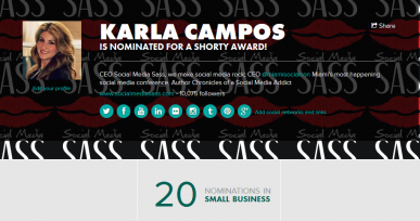 shorty awards nominations Karla Campos