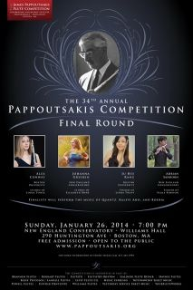 Pappoutsakis Flute Competition Jan 26 at New England Conservatory