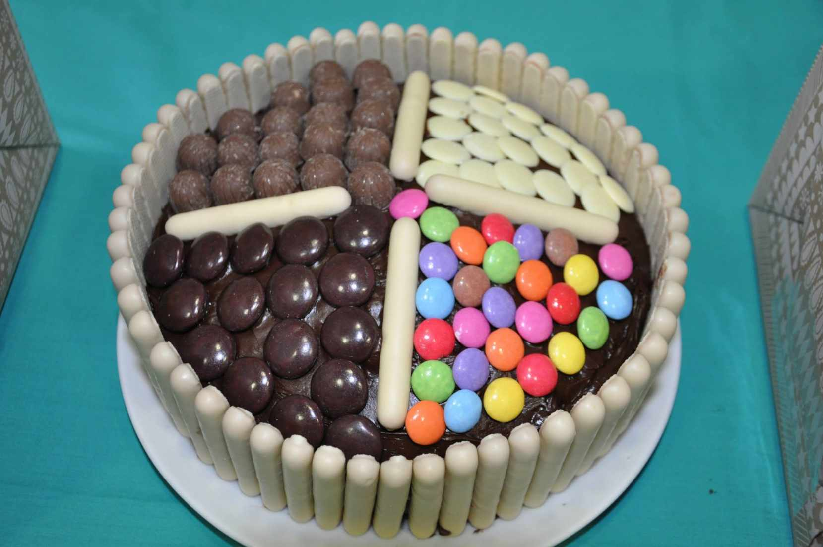 One of the cakes made for sale in aid of the spinal injuries charity, Aspire.