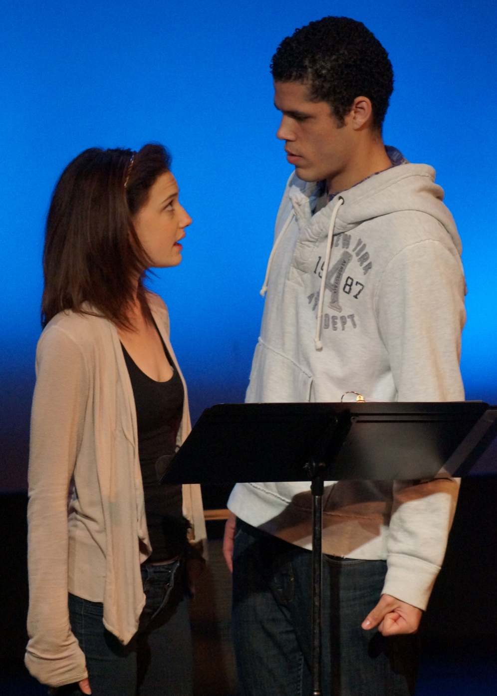 Gracie Winchester & Joshian Morales in PlayFest '13 (photo by Landon St. Gordon)