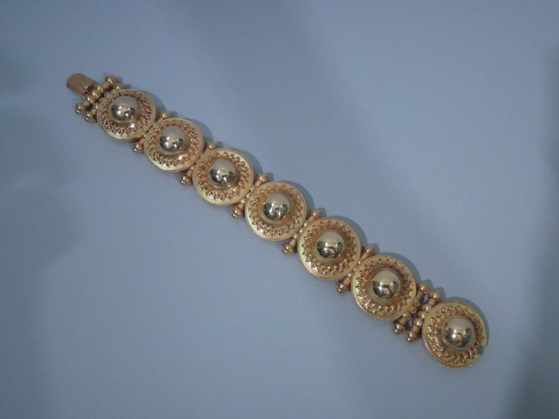 antique italian 18k gold bracelet circa 1890
