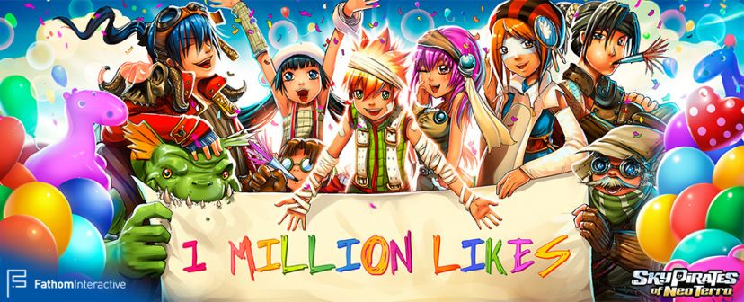Sky Pirates of Neo Terra reaches one million Facebook fans